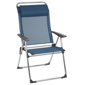 Lafuma Mobilier Alu Cham XL Camping Chair with Cannage Phifertex ocean